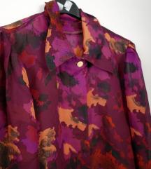 Vintage ljubicasta bluza iz osamdesetih