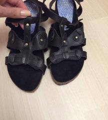 Nove crne kožne sandale