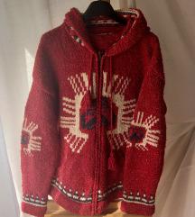Vuneni džemper/hoodie iz Perua