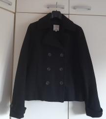 Cons crni vuneni kaput vel XL