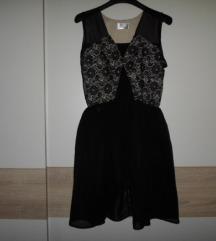 TEA MUSLIĆ dizajnerska mala crna haljinica 38-40