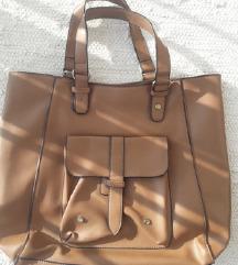 Velika nenošena smeđa torba, ručna ili na rame