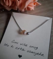 Ogrlica čelik i 2 perlice