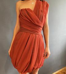 Haljina na jedno rame, šivana po mjeri