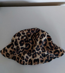 Mango leopard print bucket šešir