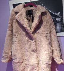 New look bunda roza krznena S 36