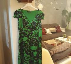 Zeleno crna haljina