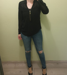Crna košulja dugih rukava