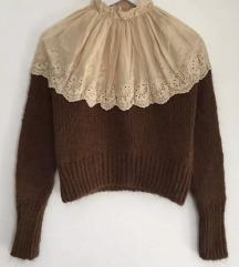 Zara pulover s čipkom