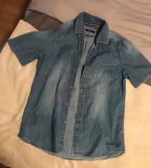 Muška jeans kosulja kratki rukav vel L