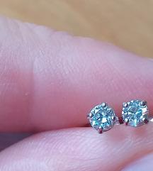 rezz Naušnice, dijamant, bijelo zlato