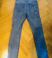 ZARA sive skinny jeans 36