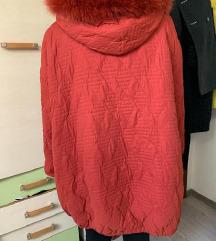 Crvena zimska jakna L-XL