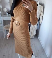 Haljina pletena duga