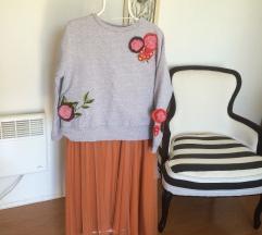 Narančasta til suknja  NOVO!!'