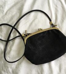 Vintage kozna mini torbica