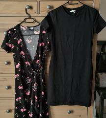 Lot haljina na preklop i crna pamučna haljina