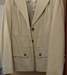 vintage kožna beige jakna