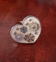 SNIŽEN na 500kn Una storia srebreni emajl prsten