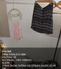 CRNA SUKNJICA ŠIROKA H&M