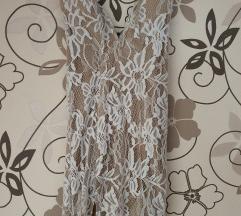 Čipkana bijela haljina