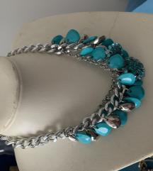 Tirkizno plava ogrlica