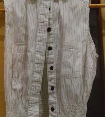 Bijela prugasta košulja bez rukava