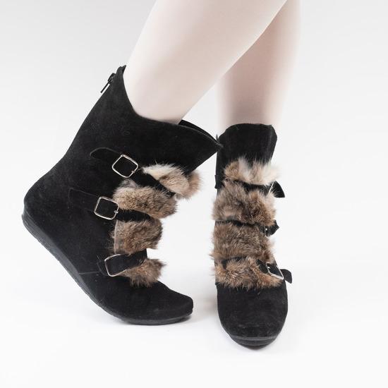 Crne čizme s krznom