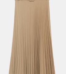 Zara plisirana suknja s pojasom.vel.S