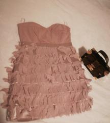 Bež haljinica sa resama