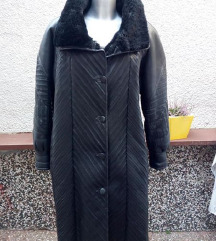 kozno krzneni kaput vel 44 XL