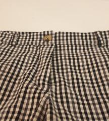 Gingham hlače s elastinom - NENOŠENE