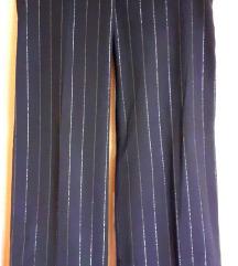 Crne, široke, svečane hlače