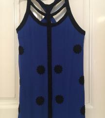 Plavo crna French Connection nova haljina