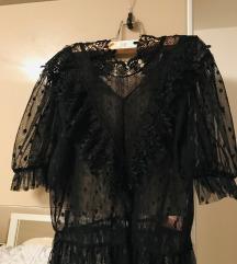 Zara crna majica M vel cipka 100 kn