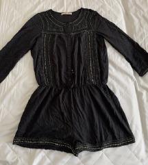 Novi Zara crni kombinezon s kristalima