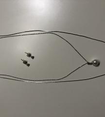 Naušnice i lančići iz Argentuma, srebro, novo