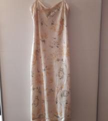 Zara, duga cvjetna haljina s prorezom, M, L