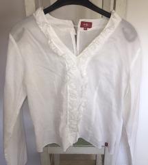 Esprit bijela košulja s volanima