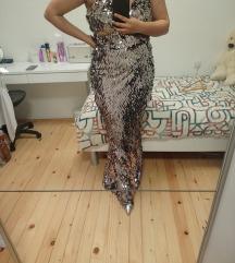 Srebrna haljina XL