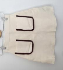zara bijela kratka suknja s dzepovima