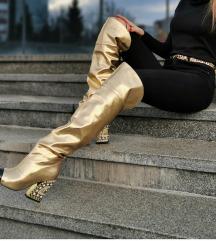 Zlatne overknee cizme