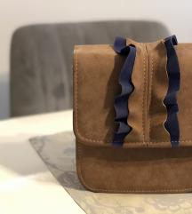 Mala torbica od brušene kože, nikad nošena