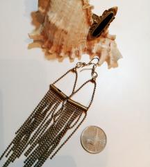 Vintage mesing naušnice i prsten