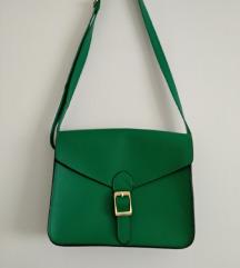 Zelena torba preko ramena