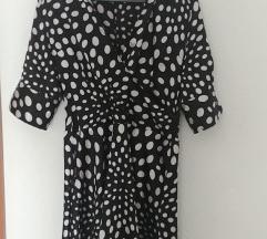 Satenska haljina s tockicama