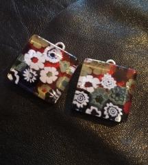 Murano flower naušnice