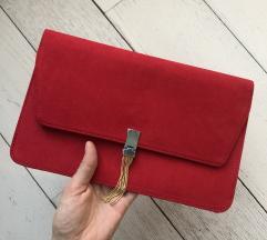 ***NOVO*** svečana crvena pismo torbica