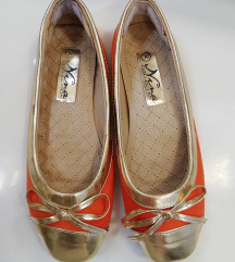 Nina collection narančasto-zlatne balerinke 35,5