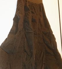 Duga nabrana suknja